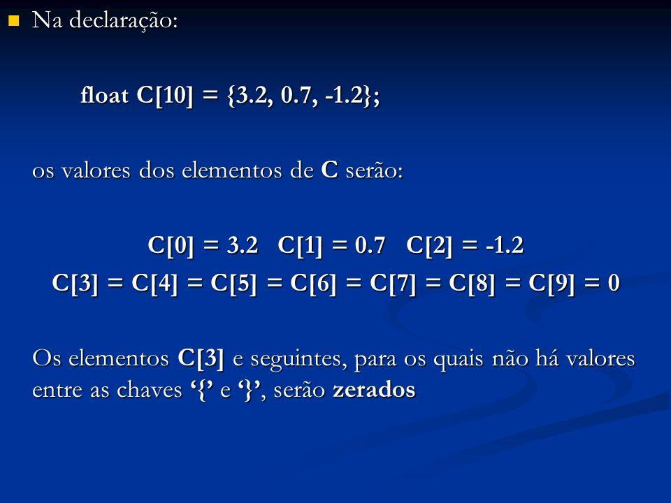 C[3] = C[4] = C[5] = C[6] = C[7] = C[8] = C[9] = 0